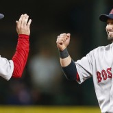 Brock Holt and Shane Victorino