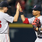 Brock Holt and Mookie Betts
